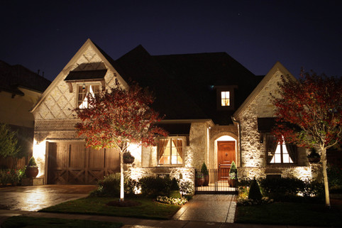 Landscape Lighting by Red Valley Landscape & Construction in Arcadia, Ok