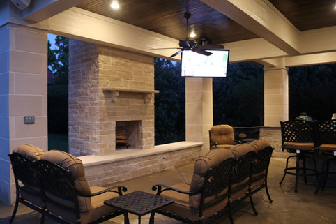 Custom Fire Pits & Fireplaces by Red Valley Landscape & Construction in Marble Falls, Texas