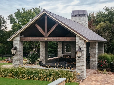 Custom Arbors & Pavilions by Red Valley Landscape & Construction in Volente, Texas