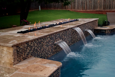 Custom Fire Pits & Fireplaces by Red Valley Landscape & Construction in Enid, Ok