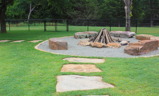 Custom Fire Pits & Fireplaces by Red Valley Landscape & Construction in Lake Travis, Texas
