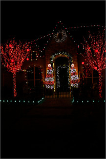 Holiday Lighting by Red Valley Landscape & Construction in Oklahoma