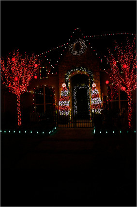 Holiday Lighting by Red Valley Landscape & Construction in North Austin