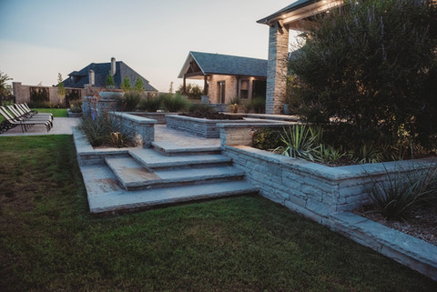 Custom Stonework & Masonry by Red Valley Landscape & Construction in North Austin, Te