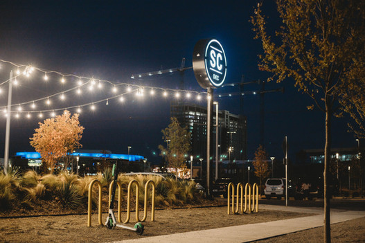Commercial Landscape Lighting by Red Valley Landscape & Construction in Oklahoma City