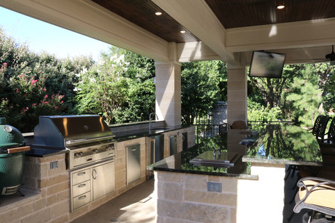 Custom Outdoor Kitchen by Red Valley Landscape & Construction in Austin, Texas