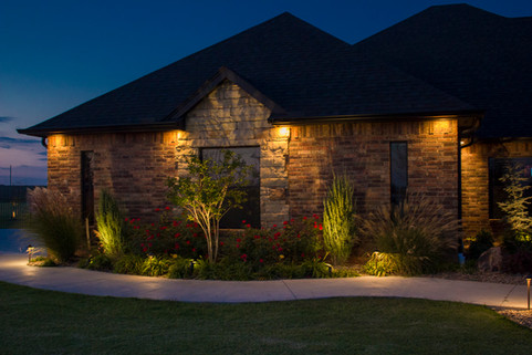 Landscape Lighting by Red Valley Landscape & Construction in Norman, Ok
