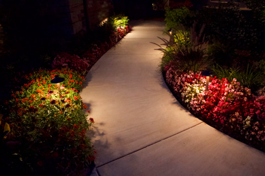 Landscape Lighting by Red Valley Landscape & Construction in Enid, Ok