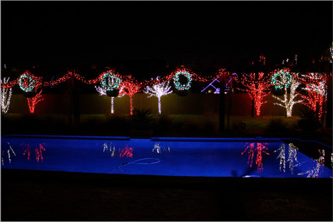 Holiday Lighting by Red Valley Landscape & Construction in Cedar Park, Texas