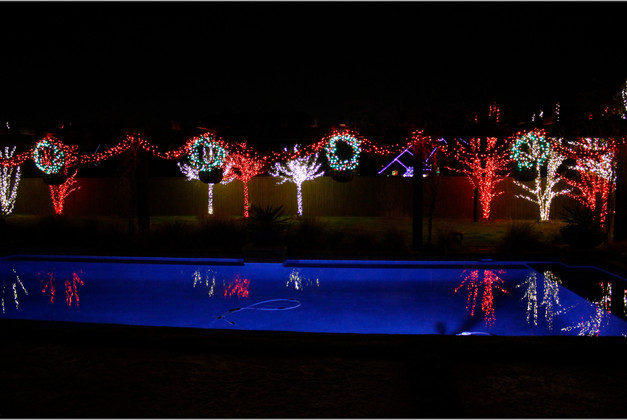 Holiday Lighting by Red Valley Landscape & Construction in Yukon, Ok