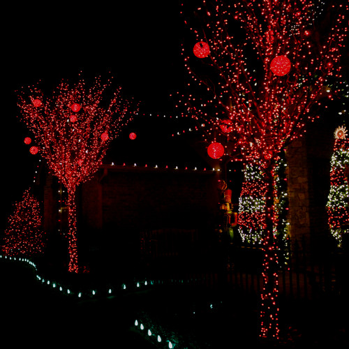 Holiday Lighting by Red Valley Landscape & Construction in Yukon Oklahoma