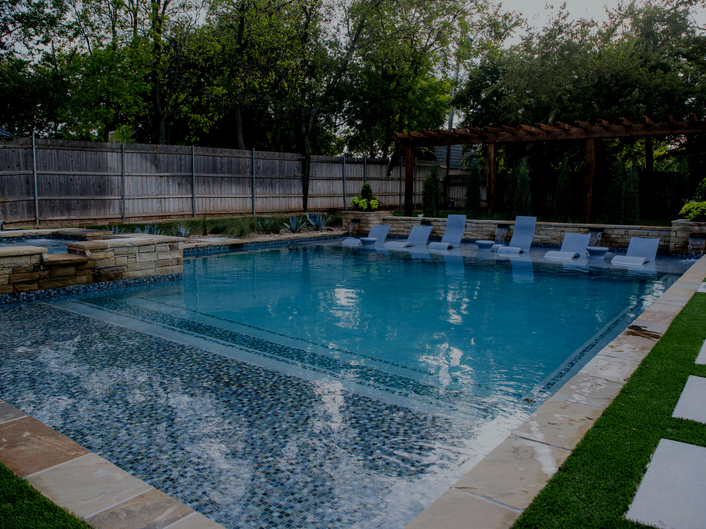 Custom Residential Pools & Spas by Red Valley Landscape & Construction in Oklahoma