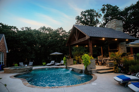 Custom Pools, Spas, and Wate Features by Red Valley Landscape & Construction located in Lake Travis, Texas
