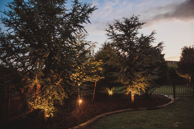 Landscape Lighting by Red Valley Landscape & Construction in Deer Creek, Ok