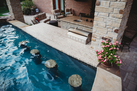 Custom Pools & Spas by Red Valley Landscape & Construction in Enid, Ok