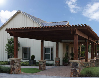 Custom Arbors & Pavilions by Red Valley Landscape & Construction in Horseshoe Bay, Texas