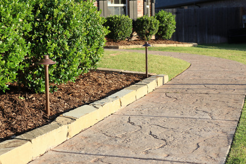 Landscape Lighting by Red Valley Landscape & Construction in Midwest City, Ok