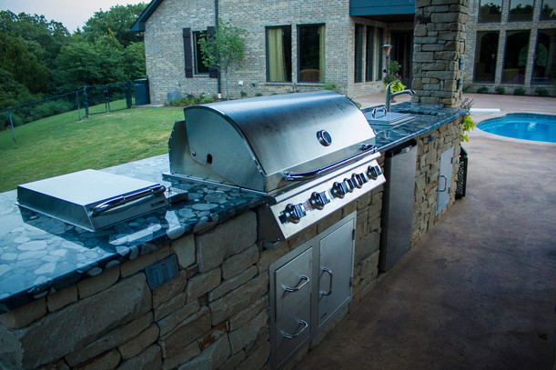 Custom Outdoor Kitchen by Red Valley Landscape & Construction in Moore, Ok