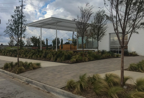 Commercial Landscape Design & Installation by Red Valley Landscape & Construction in OKC Metro