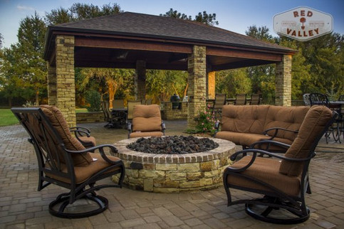 Custom Fire Pits & Fireplaces by Red Valley Landscape & Construction in Austin, Texas area
