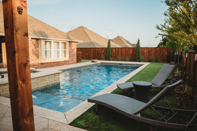 Custom Pools & Spas by Red Valley Landscape & Construction in OKC