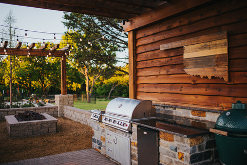 Custom Outdoor Kitchen by Red Valley Landscape & Construction in Oklahoma