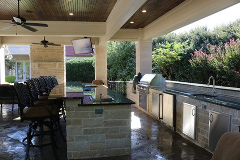 Custom Outdoor Kitchen by Red Valley Landscape & Construction in Horseshoe Bay, Texas