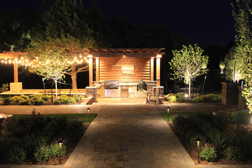 Landscape Lighting by Red Valley Landscape & Construction in Briarcliff, Texas