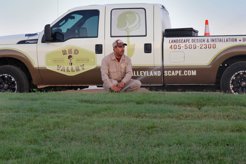 Irrigation & Drainage by Red Valley Landscape & Construction in Edmond Oklahoma
