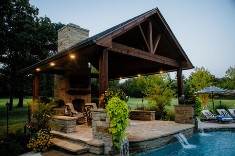 Custom Arbors & Pavilions by Red Valley Landscape & Construction in Guthrie, Ok