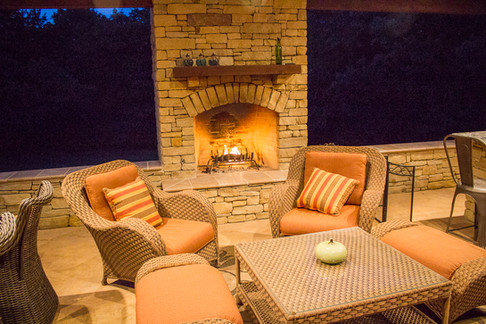 Custom Fire Pits & Fireplaces by Red Valley Landscape & Construction in Norman, Ok