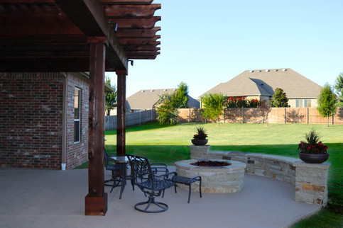 Custom Fire Pits & Fireplaces by Red Valley Landscape & Construction in Yukon, Ok