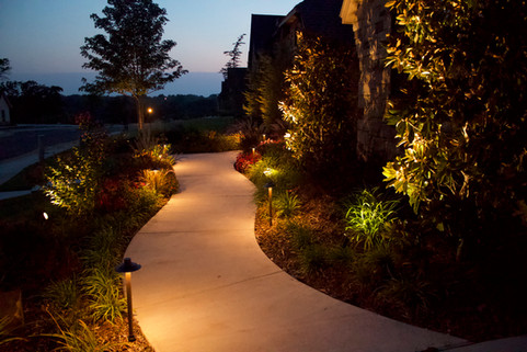 Landscape Lighting by Red Valley Landscape & Construction in Barton Creek