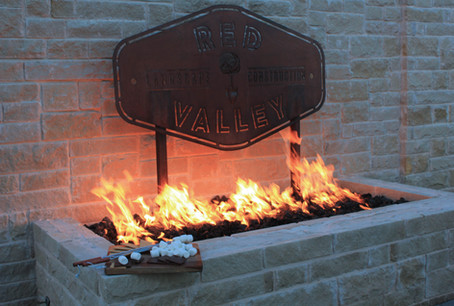 Custom Fire Pits & Fireplaces by Red Valley Landscape & Construction in Bee Cave, Texas