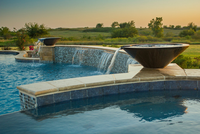 Custom Pools & Spas by Red Valley Landscape & Construction in Elk Ciy, Ok