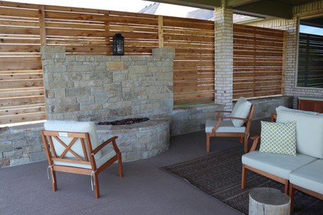 Custom Fire Pits & Fireplaces by Red Valley Landscape & Construction in Edmond, Ok