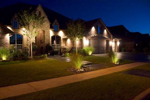 Landscape Lighting by Red Valley Landscape & Construction in Warr Acres, Ok