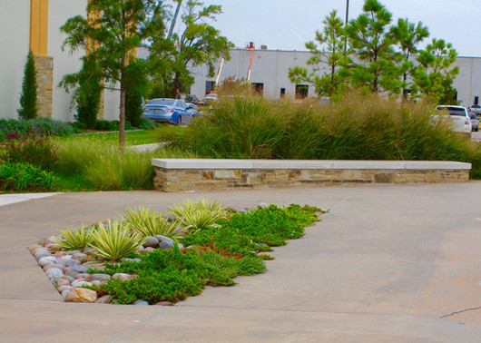 Commercial Landscape by Red Valley Landscape & Construction located in Oklahoma