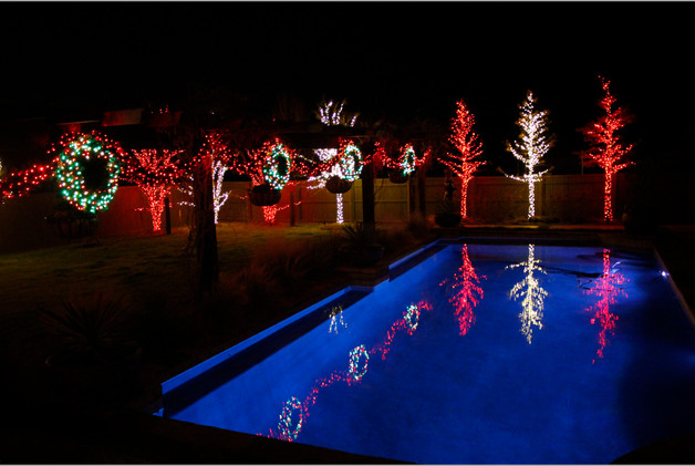 Holiday Lighting by Red Valley Landscape & Construction in Lake Travis, Texas