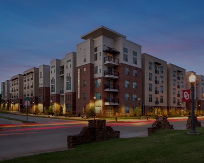 Commercial Landscape Lighting by Red Valley Landscape & Construction in Norman, Ok