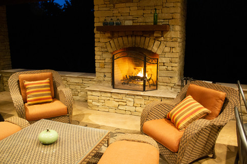 Custom Fire Pits & Fireplaces by Red Valley Landscape & Construction in North Austin, Texas