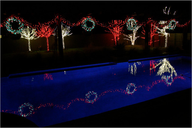 Holiday Lighting by Red Valley Landscape & Construction in Marble Falls, Texas