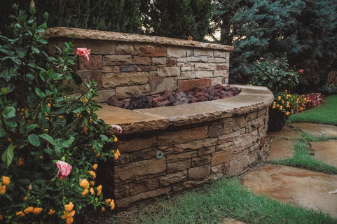 Custom Stonework & Masonry by Red Valley Landscape & Construction in Volente, Texas