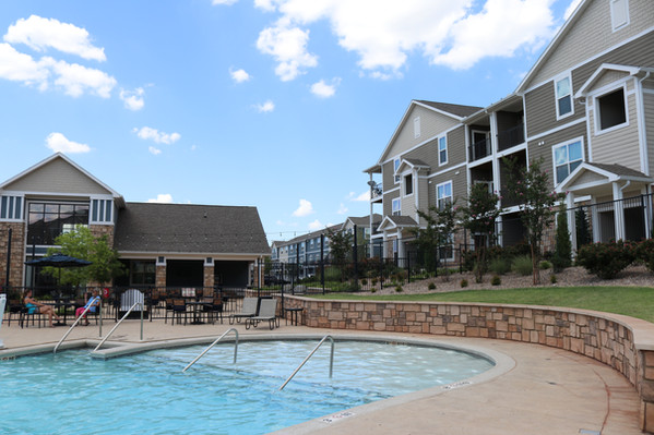 Custom Commercial Pools & Spas by Red Valley Landscape & Construction in Oklahoma