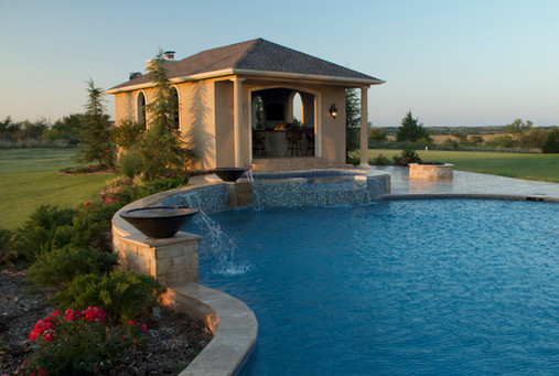 Custom Arbors & Pavilions by Red Valley Landscape & Construction in North Austin, Texas