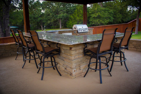 Custom Outdoor Kitchen by Red Valley Landscape & Construction in ATX