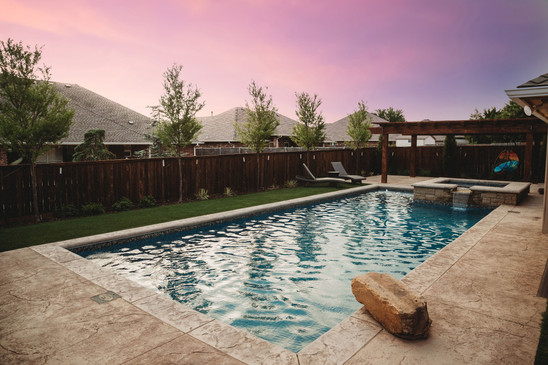 Custom Pools & Spas by Red Valley Landscape & Construction in Brushy Creek, Texas