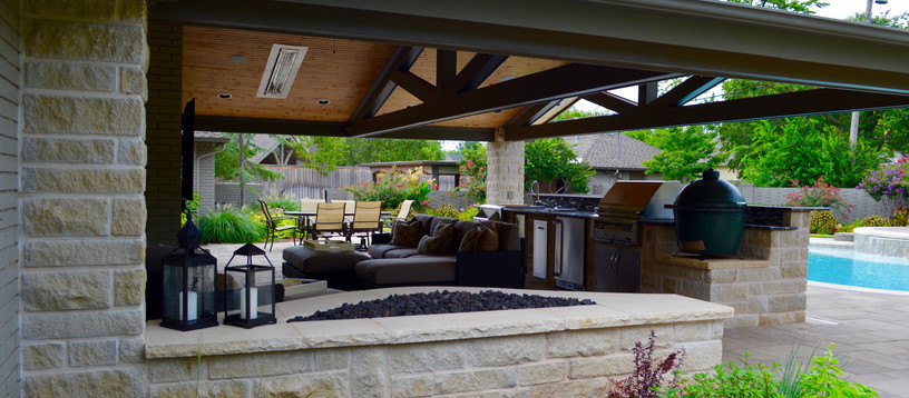 Custom Stonework & Masonry by Red Valley Landscape & Construction in The Hills, Texas