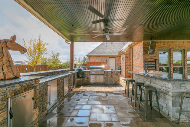 Custom Outdoor Kitchen by Red Valley Landscape & Construction in Austin, TX