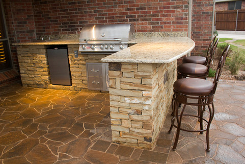 Custom Outdoor Kitchen by Red Valley Landscape & Construction in Barton Creek, Texas